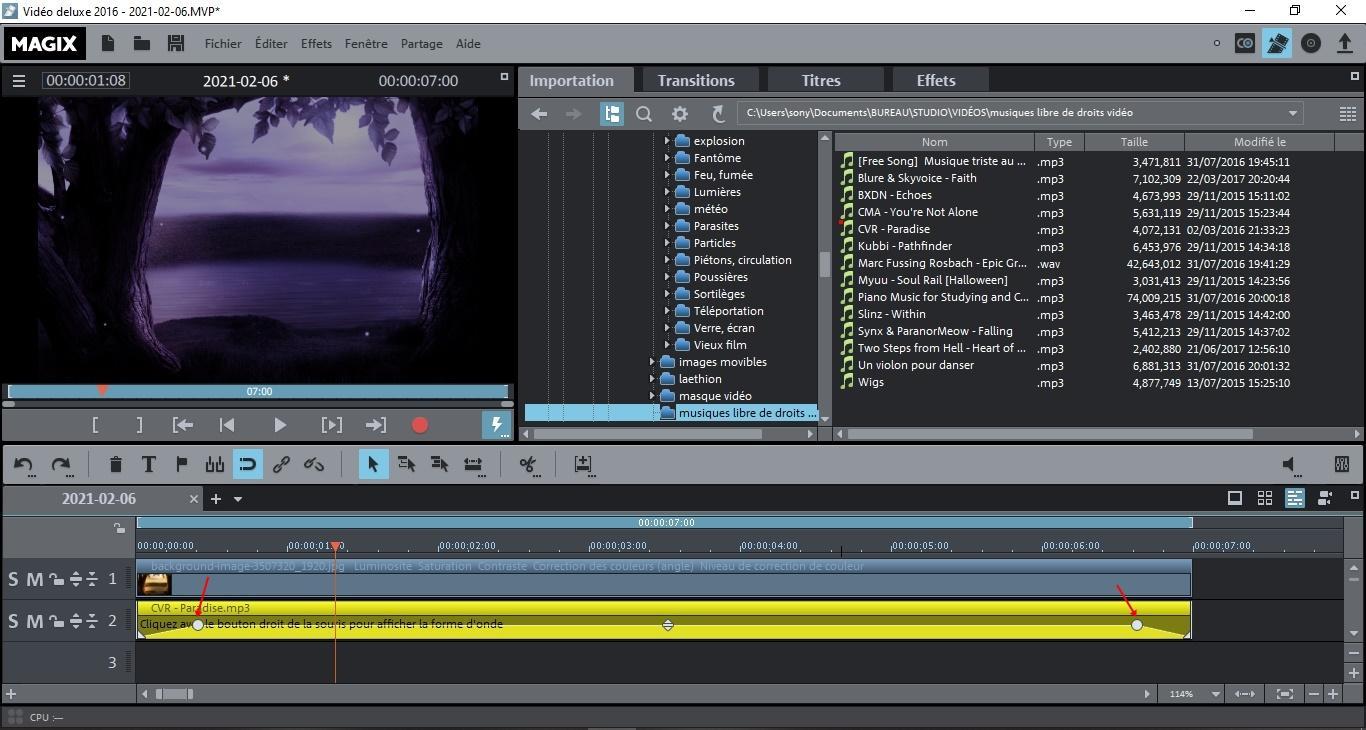 Capture7 fondu musique